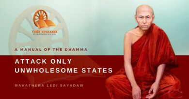 A MANUAL OF THE DHAMMA - ATTACK ONLY UNWHOLESOME STATES - LEDI SAYADAW
